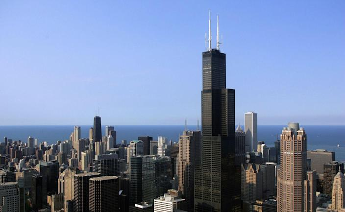 """<p>Opened as the Sears Tower in 1973, the 110-story, 1,450-foot-tall structure outshined New York's World Trade Center as the tallest in the world. The Sears Tower, now known as the Willis Tower, followed <a href=""""http://khan.princeton.edu/khanSears.html"""" rel=""""nofollow noopener"""" target=""""_blank"""" data-ylk=""""slk:Fazlur Khan's structural tube design"""" class=""""link rapid-noclick-resp"""">Fazlur Khan's structural tube design</a> (he was also the architect on this project), allowing for taller skyscrapers with more stability, while not relying on them tapering at the top. Khan's development gave the world one of its tallest structures for decades—<a href=""""https://www.willistower.com/history-and-facts"""" rel=""""nofollow noopener"""" target=""""_blank"""" data-ylk=""""slk:the Sears Tower was the world's tallest until 1998"""" class=""""link rapid-noclick-resp"""">the Sears Tower was the world's tallest until 1998</a>—and provided the backbone for even further development.</p>"""