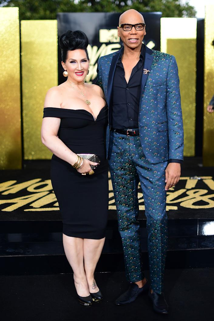 TV personalities Michelle Visage (L) and RuPaul attend the 2017 MTV Movie And TV Awards at The Shrine Auditorium on May 7, 2017 in Los Angeles, California.