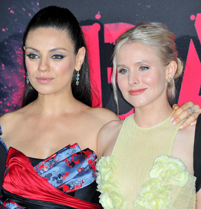 "Mila Kunis (left) and Kristen Bell star in the new holiday-themed comedy ""A Bad Moms Christmas,"" which hits theaters Nov. 1."