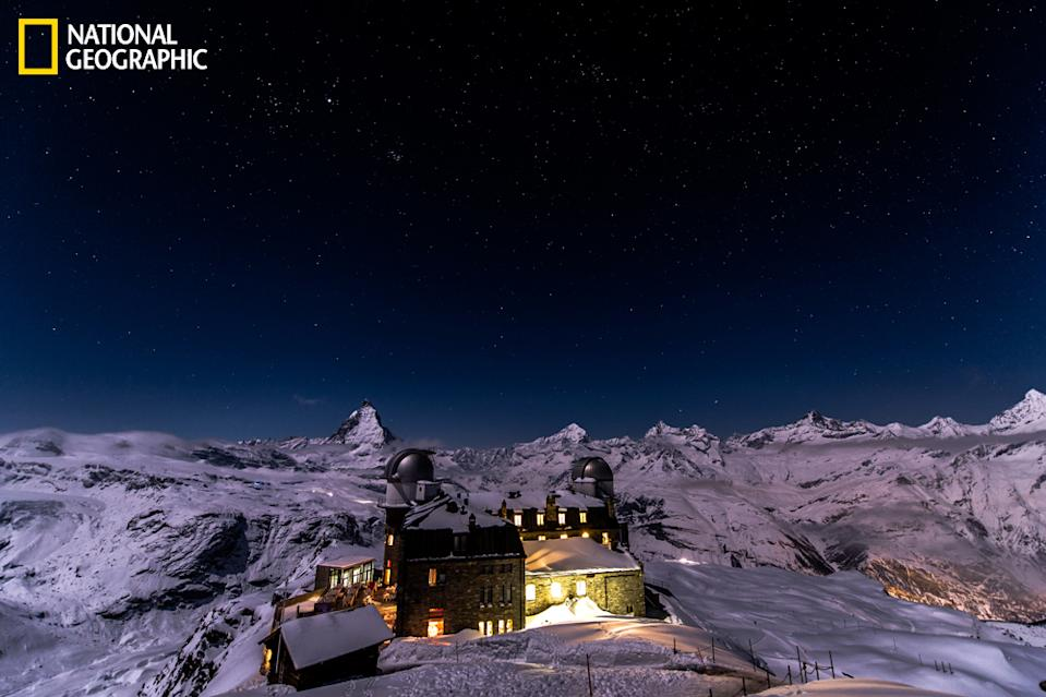 """When you are almost on top of the Alps, you have stars so close that you think you can touch them. At Gornergrat you have the most amazing view not only by day, but also by night, when the scenery will give you the feeling that you are part of the universe and its beauty. (Photo and caption Courtesy Robert Hradil / National Geographic Your Shot) <br> <br> <a href=""""http://ngm.nationalgeographic.com/your-shot/weekly-wrapper"""" rel=""""nofollow noopener"""" target=""""_blank"""" data-ylk=""""slk:Click here"""" class=""""link rapid-noclick-resp"""">Click here</a> for more photos from National Geographic Your Shot."""