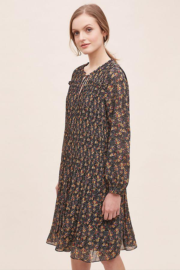 Joah Floral-Pleated Tunic Dress |