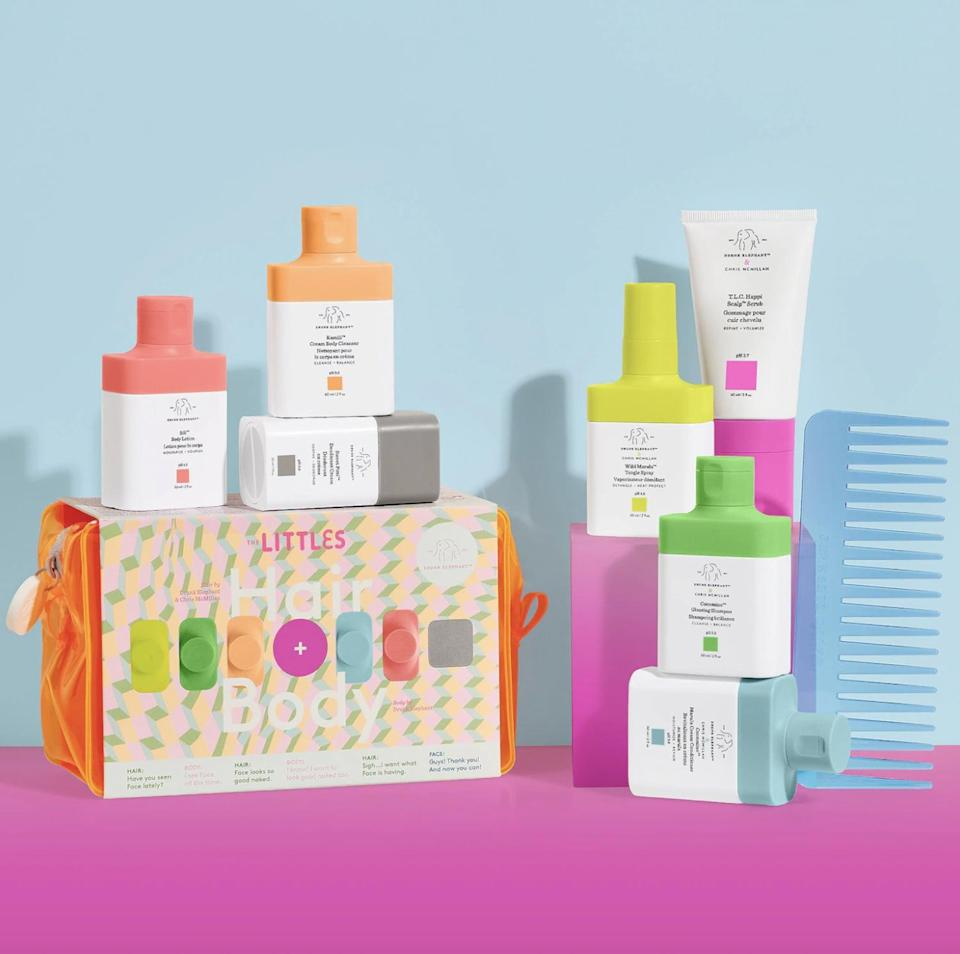 <p>The brand released a hair and body line last year, and I'm a fan of it all. The <span>Drunk Elephant The Littles Hair + Body Kit 2.0</span> ($49) is the perfect way to try it all out. It includes deodorant, body wash and lotion, shampoo, conditioner, hair detangling spray, and even a scalp scrub and comb. Trust me, you'll want to try it.</p>