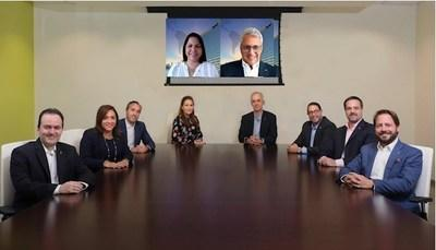 Members of the Bladex's Team that participated in the transaction, led by Eduardo Vivone and Annette van Hoorde de Solís, from Treasury and Capital Markets.