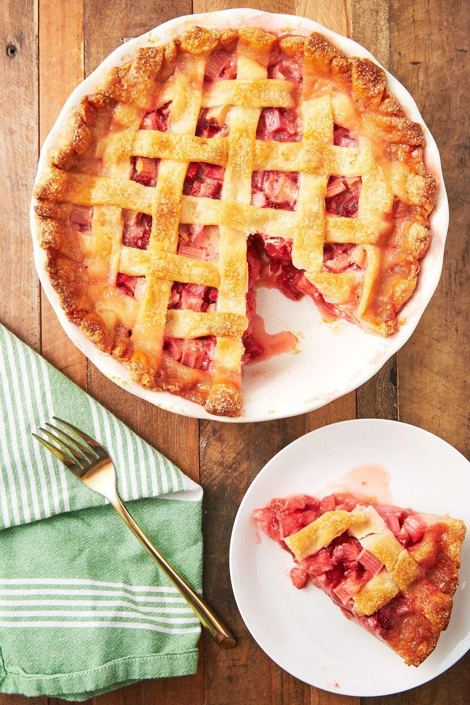 "<p>Everyone's favorite springtime pie. </p><p>Get the recipe from <a href=""https://www.delish.com/cooking/recipe-ideas/recipes/a53154/best-strawberry-rhubarb-pie-recipe/"" rel=""nofollow noopener"" target=""_blank"" data-ylk=""slk:Delish"" class=""link rapid-noclick-resp"">Delish</a>. </p>"