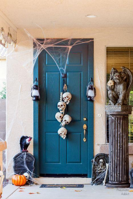 "<p>A set of dollar store skulls look creepy and chic with the right arrangement. <br></p><p><strong>Get the tutorial at <a href=""https://www.pneumaticaddict.com/2016/10/easy-skull-halloween-door-hanger.html"" rel=""nofollow noopener"" target=""_blank"" data-ylk=""slk:Pneumatic Addict"" class=""link rapid-noclick-resp"">Pneumatic Addict</a>.</strong></p><p><a class=""link rapid-noclick-resp"" href=""https://www.amazon.com/Loftus-International-Halloween-Decoration-Novelty/dp/B01KRAK214/?tag=syn-yahoo-20&ascsubtag=%5Bartid%7C10050.g.22350299%5Bsrc%7Cyahoo-us"" rel=""nofollow noopener"" target=""_blank"" data-ylk=""slk:SHOP PLASTIC SKULLS"">SHOP PLASTIC SKULLS</a><br></p>"