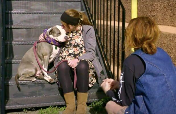 'Pit Bulls & Parolees': Homeless Woman Has No Choice But to Give Up Dog in Heartbreaking Clip (Exclusive Video)