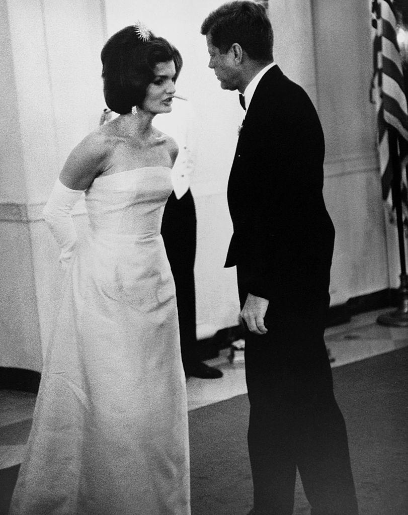 """<p>One night after John came home from a date with one of his mistresses, he and Jackie—both intoxicated—got into a heated <a href=""""http://www.nydailynews.com/entertainment/gossip/explosive-biography-jackie-kennedy-set-divorce-jfk-article-1.1815810 """" rel=""""nofollow noopener"""" target=""""_blank"""" data-ylk=""""slk:argument"""" class=""""link rapid-noclick-resp"""">argument</a>. Jackie ran out of the house wearing only her slip, and John called for an ambulance to pick her up. She ultimately was taken to a psychiatric hospital and received three shocks of electroshock treatment for depression. </p>"""