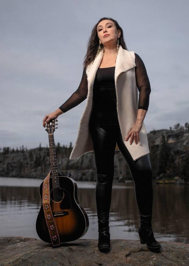 Leela Gilday, a Dene musician from the Northwest Territories, is up for two Juno awards this year. (Dave Brosha Photography - image credit)