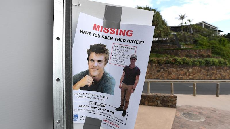 A poster asking locals if they have seen Theo.