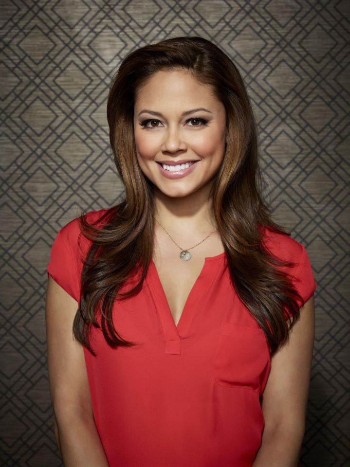 """Vanessa Lachey as Camila in """"Dads"""" on Fox."""