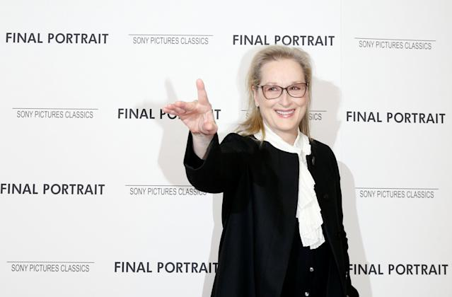 Meryl Streep arrives for a special screening of <em>Final Portrait</em> in New York on March 22, 2018. (Photo: Brendan McDermid/Reuters)