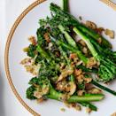 """This vibrant casserole recipe calls for a pound of broccolini, finely grated Parmesan, slices of white cheddar, chiles de árbol, and seeded rye bread. <a href=""""https://www.epicurious.com/recipes/food/views/broccolini-cheddar-gratin-with-rye-breadcrumbs-51255550?mbid=synd_yahoo_rss"""" rel=""""nofollow noopener"""" target=""""_blank"""" data-ylk=""""slk:See recipe."""" class=""""link rapid-noclick-resp"""">See recipe.</a>"""
