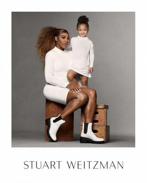 Serena Williams and her daughter wear matching looks for Stuart Weitzman's latest ad Spring 2021 ad campaign. (courtesy of Stuart Weitzman)