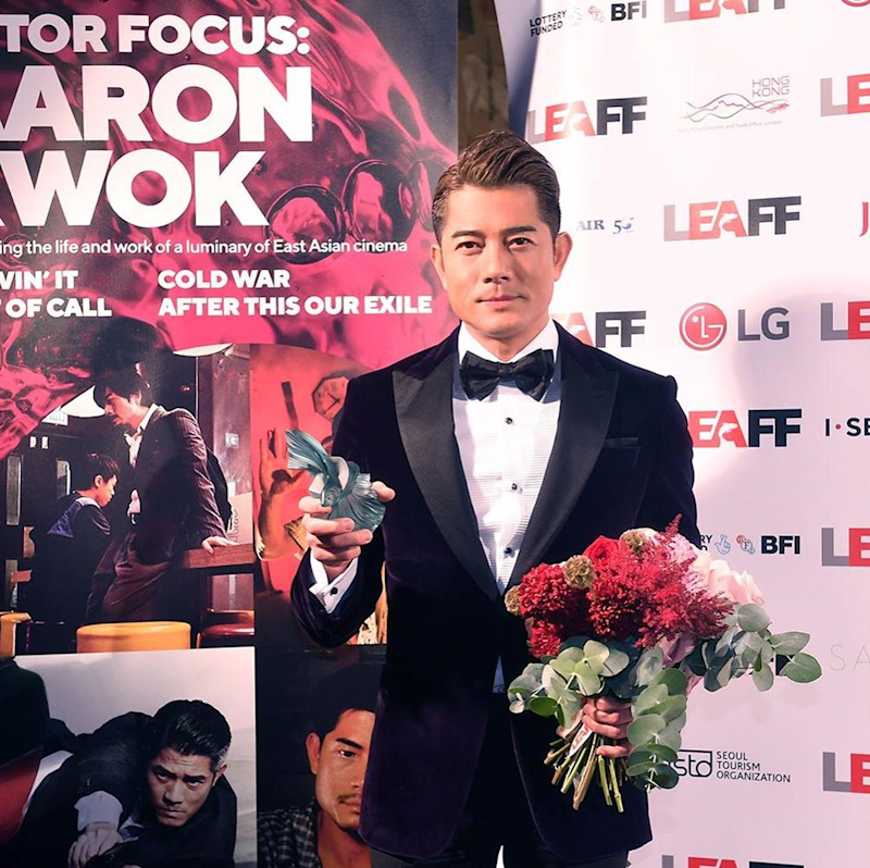 Hong Kong heartrob Aaron Kwok has denied paying his wife to try for a son. — Picture via Instagram/ aaronkwokxx