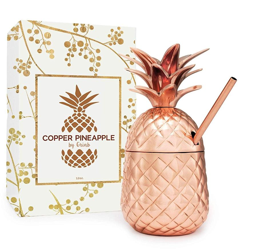<p>Cocktail hour will be much more fun with this <span>Solid Copper Pineapple Tumbler </span> ($35).</p>
