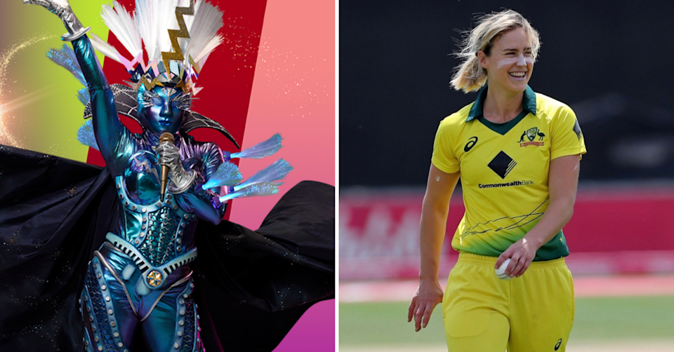 The Masked Singer Australia contestant Lightning and Ellyse Perry