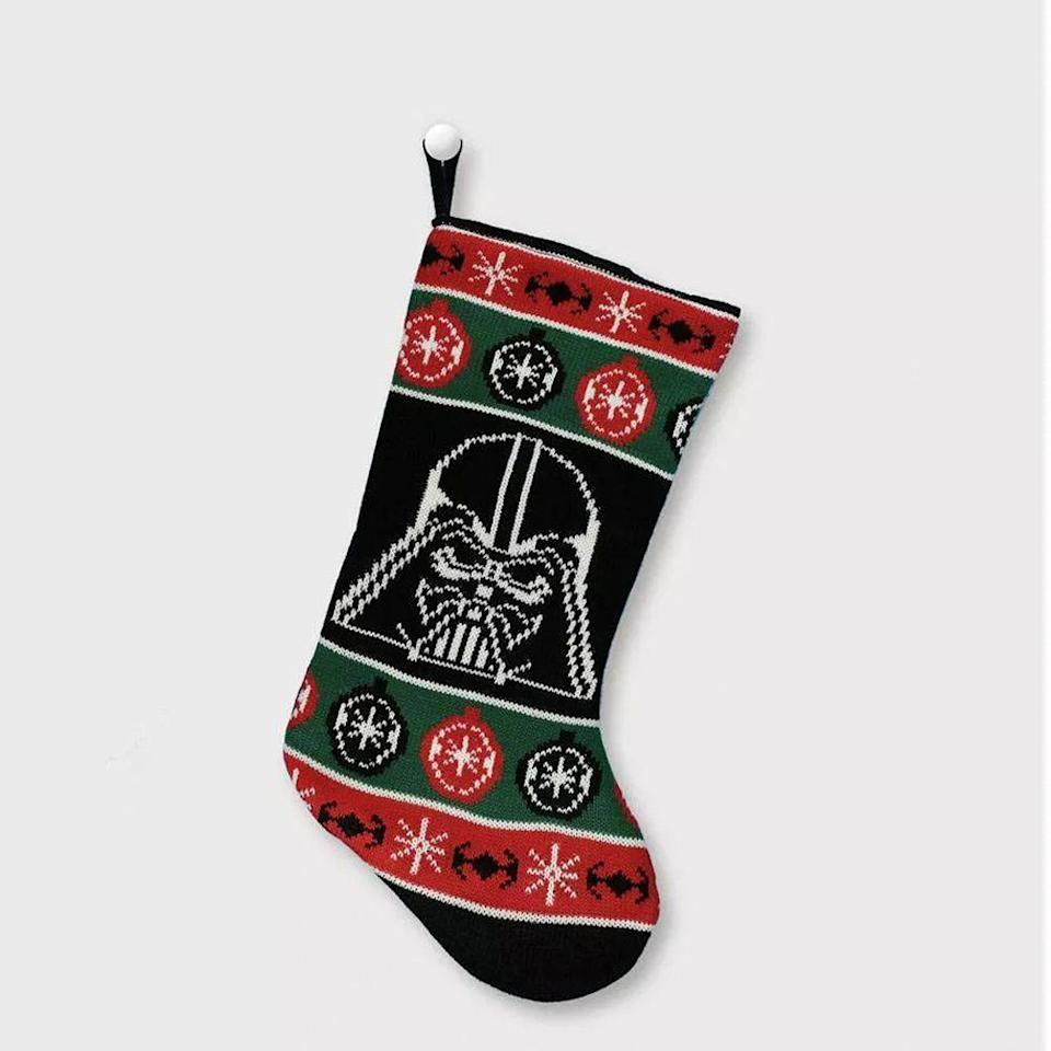 """<p><strong>Star Wars</strong></p><p>target.com</p><p><strong>$15.00</strong></p><p><a href=""""https://www.target.com/p/star-wars-darth-vader-knit-christmas-stocking/-/A-79314873"""" rel=""""nofollow noopener"""" target=""""_blank"""" data-ylk=""""slk:Shop Now"""" class=""""link rapid-noclick-resp"""">Shop Now</a></p><p>Yep, <em>Star Wars</em> qualifies. Unleash the force on Christmas day by stuffing this knit stocking with as many chocolates, toys, and other treats as possible. </p>"""