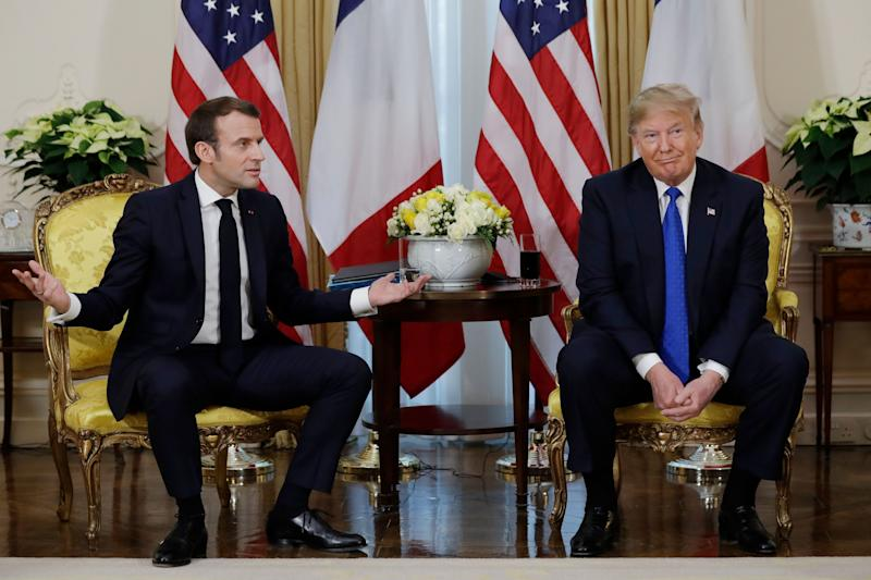 President Donald Trump meets French President Emmanuel Macron at Winfield House, Tuesday, Dec. 3, 2019, in London. (AP Photo/ Evan Vucci) (Photo: ASSOCIATED PRESS)
