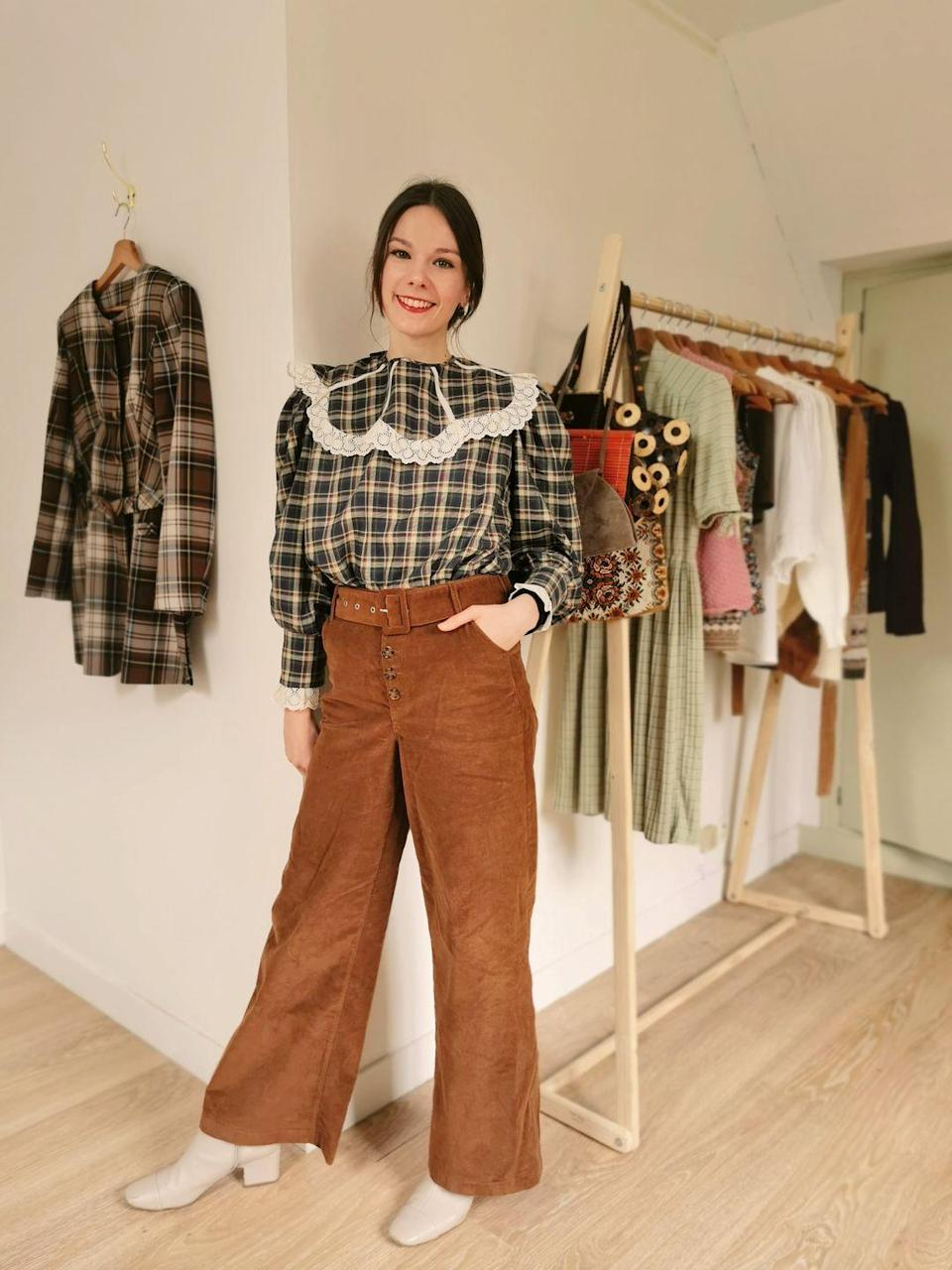 """<p>'I handpick every item I sell on Ellem Vintage and release a small curated collection almost every Sunday,' 27-year-old Lucile Merveille said of her store Ellem Vintage.</p><p>'The themes of the collections depends on my mood, the weather, a trend or colour I've been liking or can even be based on a piece of art that that I have found inspiring. I love choosing any item of clothing that speaks to me in the hope that it will meet its perfect, unique match.'</p><p><a class=""""link rapid-noclick-resp"""" href=""""https://www.instagram.com/ellemvintage/"""" rel=""""nofollow noopener"""" target=""""_blank"""" data-ylk=""""slk:SHOP ELLEM VINTAGE NOW"""">SHOP ELLEM VINTAGE NOW</a></p>"""