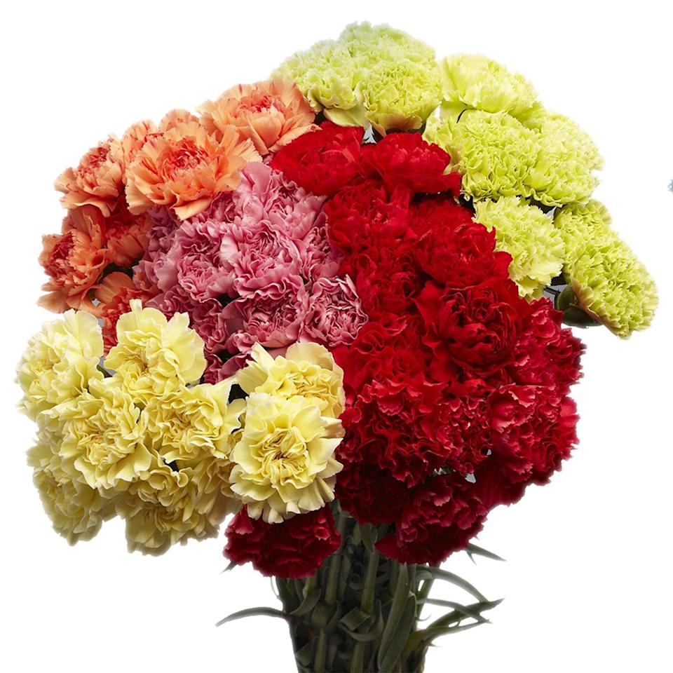"<p>If you're an Amazon Prime member, you're in luck. From <a href=""https://www.amazon.com/GlobalRose-Assorted-Carnations-Delivery-Tuesday/dp/B00CC026RQ/ref=redir_mobile_desktop?tag=syn-yahoo-20&ascsubtag=%5Bartid%7C10072.g.32053111%5Bsrc%7Cyahoo-us"" rel=""nofollow noopener"" target=""_blank"" data-ylk=""slk:this 100 assorted carnations bouquet"" class=""link rapid-noclick-resp"">this 100 assorted carnations bouquet</a>, to a best selling <a href=""https://www.amazon.com/Hallmark-Flowers-Bouquet-Charming-Vase/dp/B07BHCNZ4Z/ref=sr_1_3?ascsubtag=%5Bartid%7C10072.g.32053111%5Bsrc%7Cyahoo-us&dchild=1&keywords=flowers&qid=1586194758&refinements=p_85%3A2470955011&rnid=2470954011&rps=1&s=grocery&sr=1-3&tag=syn-yahoo-20"" rel=""nofollow noopener"" target=""_blank"" data-ylk=""slk:no-vase option from Hallmark"" class=""link rapid-noclick-resp"">no-vase option from Hallmark</a>, to <a href=""https://www.amazon.com/Premium-Roses-Fresh-Flowers-Black/dp/B07WP6HDV9/ref=sr_1_8?tag=syn-yahoo-20&ascsubtag=%5Bartid%7C10072.g.32053111%5Bsrc%7Cyahoo-us"" rel=""nofollow noopener"" target=""_blank"" data-ylk=""slk:premium preserved roses"" class=""link rapid-noclick-resp"">premium preserved roses</a>, you can choose from a wide variety of brands and flower arrangements to fit your needs. </p><p><a class=""link rapid-noclick-resp"" href=""https://www.amazon.com/s?k=flowers&i=grocery&rh=n%3A16310101%2Cn%3A3745171%2Cp_85%3A2470955011&qid=1586198140&ref=sr_ex_n_1&tag=syn-yahoo-20&ascsubtag=%5Bartid%7C10072.g.32053111%5Bsrc%7Cyahoo-us"" rel=""nofollow noopener"" target=""_blank"" data-ylk=""slk:SHOP NOW"">SHOP NOW</a></p>"