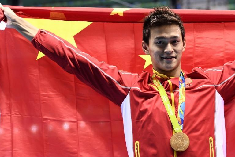 Three-time Olympic champion Sun Yang received a lengthy ban for a doping violation