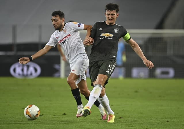 Harry Maguire was captaining Manchester United in the Europa League last Sunday