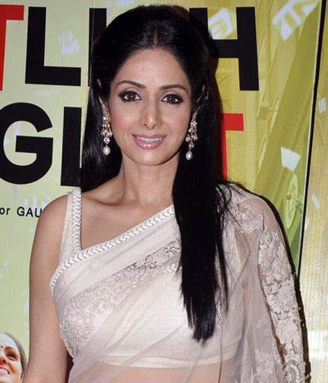 In Sabyasachi at the Mumbai premiere of 'English Vinglish'.