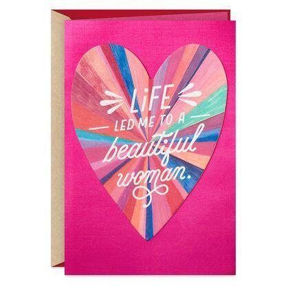 """<p><strong>Hallmark</strong></p><p>hallmark.com</p><p><strong>$6.59</strong></p><p><a href=""""https://www.hallmark.com/cards/greeting-cards/lucky-to-be-the-woman-who-loves-you-valentines-day-card-for-her-659VEE7785.html"""" rel=""""nofollow noopener"""" target=""""_blank"""" data-ylk=""""slk:Shop Now"""" class=""""link rapid-noclick-resp"""">Shop Now</a></p><p>If you're a Hallmark kinda gal, you'll be happy to hear the iconic card company has LGBTQ+ options. We love the sentiment in this her-for-her card that's perfect no matter how long you've been in love.</p>"""