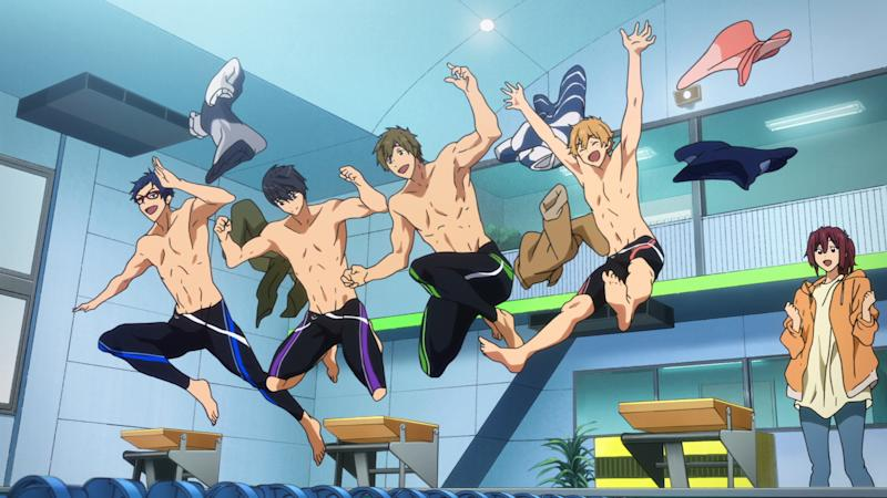 Take Your Marks Is More Of An Epilogue To The Free Anime Series About Members Iwatobi Swim Club Unlike Most Films That