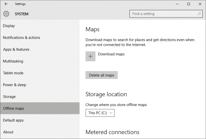 How to download maps for local, offline use in Windows 10