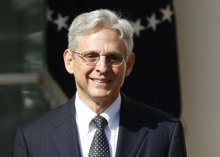 Appeals Court Judge Merrick Garland speaks in the Rose Garden of the White House after being nominated by President Barack Obama (not pictured) to the U.S. Supreme Court in Washington, U.S., March 16, 2016. REUTERS/Kevin Lamarque/File Photo