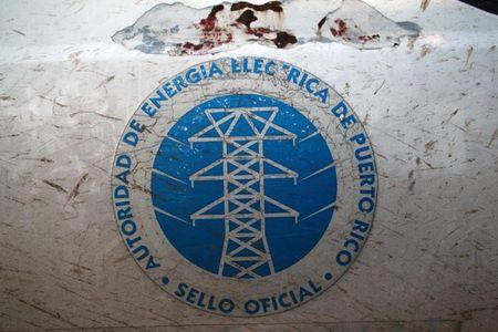 The logo of the Puerto Rico Electric Power Authority (PREPA) is seen in Dorado
