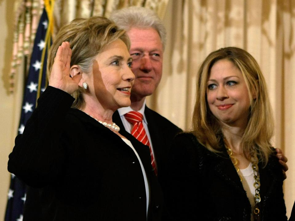 Hillary Clinton was sworn in as secretary of state in February 2009, a portion of history not included in an Oklahoma history book. (Photo: Getty Images)