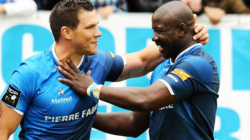 Ibrahim Diarra, pictured here celebrating a try with Remy Grosso.
