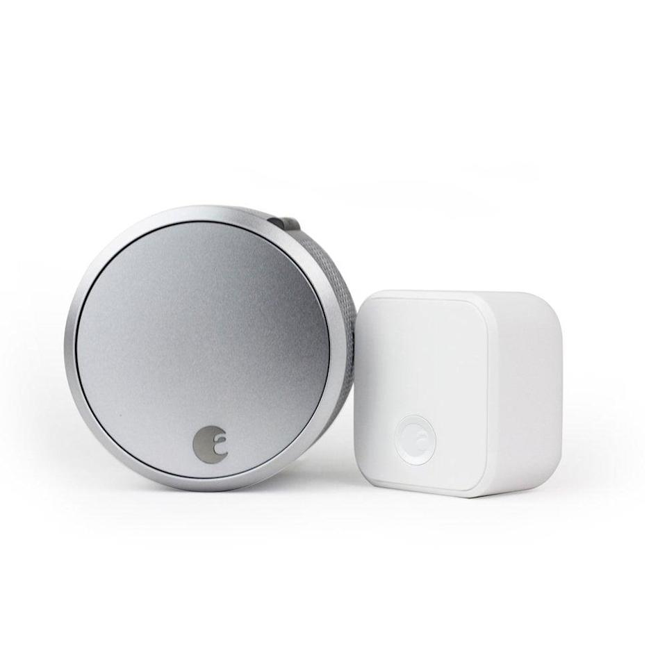 <p>Keep your home secure with this <span>August Smart Lock Pro + Connect</span> ($159, originally $230). It tracks who's coming and going and locks automatically, but if you forgot your keys, you can use your phone to open the door!</p>