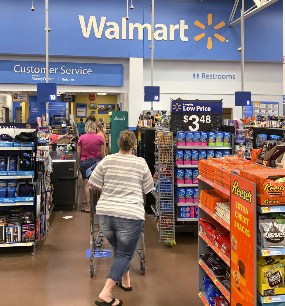 Photo by: BBB/STAR MAX/IPx 2020 8/31/20 A Walmart is seen in Cushing, Oklahoma.