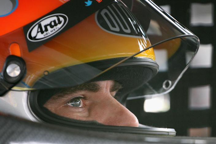 AVONDALE, AZ - NOVEMBER 11: Jeff Gordon, driver of the #24 DuPont Chevrolet, sits in his car during practice for the NASCAR Sprint Cup Series Kobalt Tools 500 at Phoenix International Raceway on November 11, 2011 in Avondale, Arizona. (Photo by Christian Petersen/Getty Images)