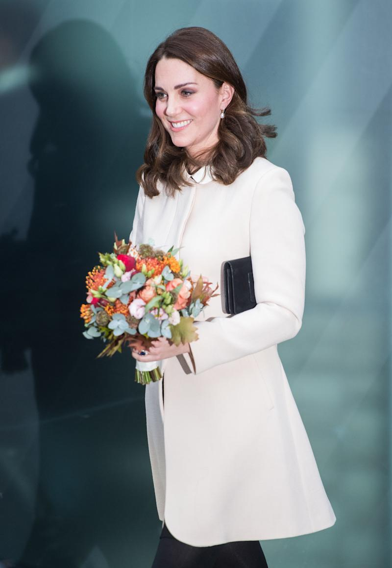 Catherine, Duchess of Cambridge, at the Hornsey Road Children's Centre on Nov. 14 in London. (Samir Hussein via Getty Images)