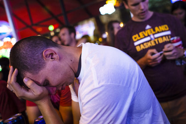 If you play parlays, you have experienced a crushing defeat. (Photo by Angelo Merendino/Getty Images)