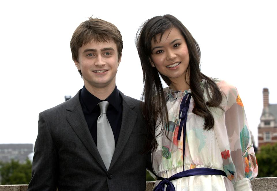 Actors Daniel Radcliffe and Katie Leung, during a photo call for the new 'Harry Potter and the Order of the Phoenix' film at the Thames Terrace, County Hall in London, Monday June 25, 2007. (AP Photo/Anthony Harvey)