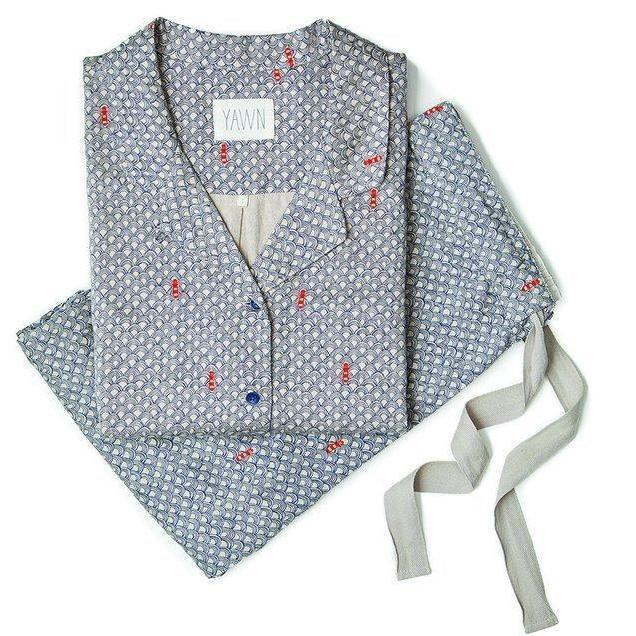 Yawn's PJs are 100 per cent cotton (£80, loveyawn.com)
