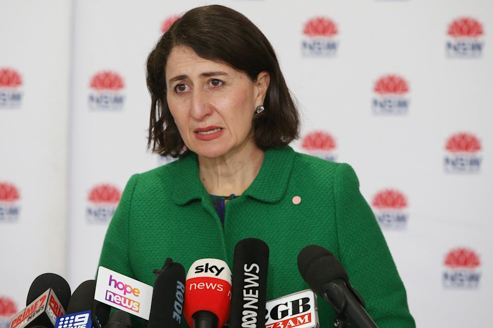 NSW Premier Gladys Berejiklian announced the extended lockdown in Sydney on Wednesday (Getty Images)
