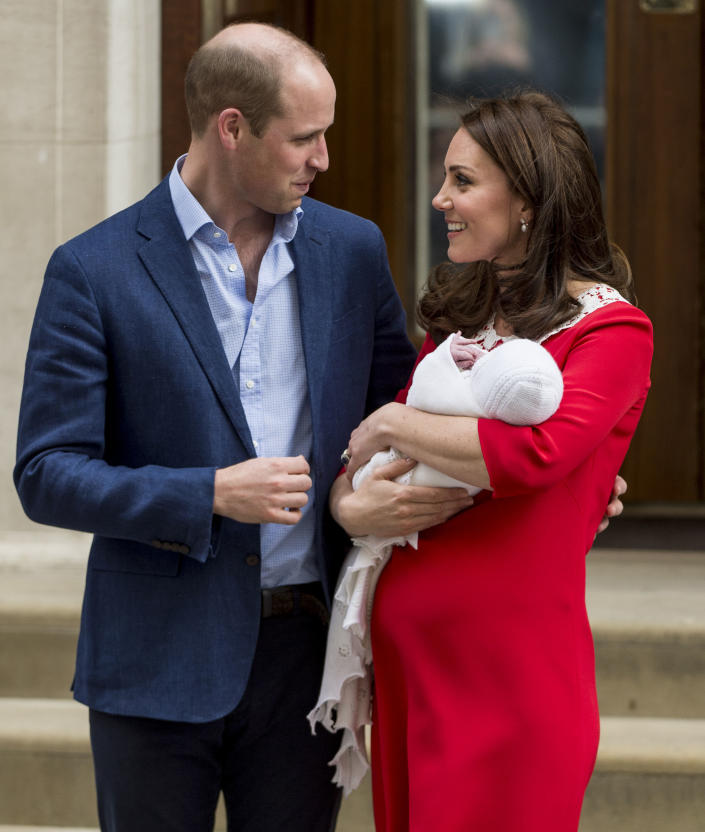 Prince William, Kate Middleton and their newborn son. <em>(Getty Images)</em>