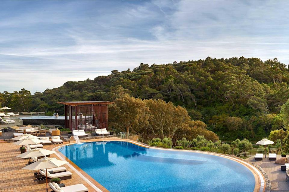 Pool at Penha Longa resort, voted one of the best hotels in the world
