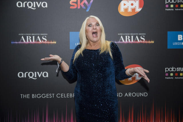Vanessa Feltz has lost almost four stone since having a gastric bypass in January (Credit: Getty Images)