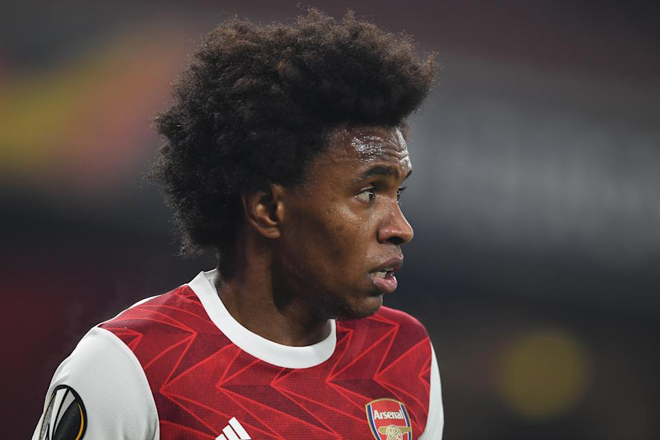 <p>Arsenal forward Willian</p> (Getty)