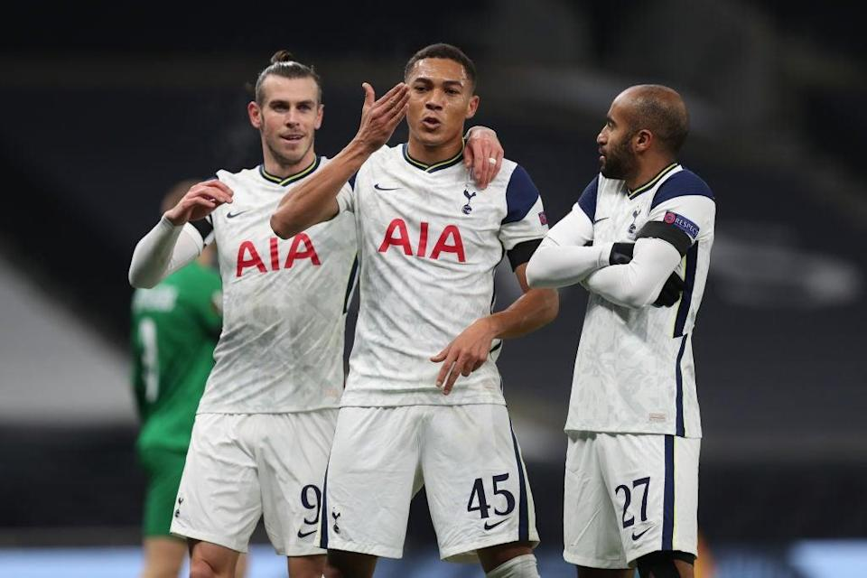 Spurs celebrate scoring (Tottenham Hotspur FC via Getty Images)