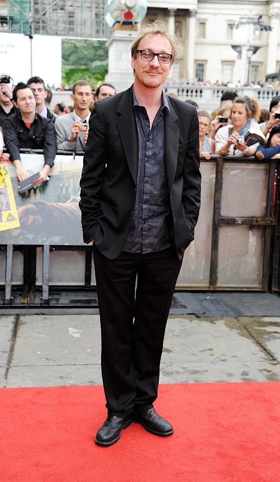 """<a href=""""http://movies.yahoo.com/movie/contributor/1800018709"""">David Thewlis</a> at the London world premiere of <a href=""""http://movies.yahoo.com/movie/1810004624/info"""">Harry Potter and the Deathly Hallows - Part 2</a> on July 7, 2011."""