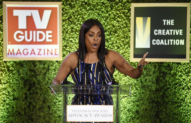 Honoree Niecy Nash addresses the audience at the 2016 Television Industry Advocacy Awards at the Sunset Tower Hotel on Friday, Sept. 16, 2016, in West Hollywood, Calif. (Photo by Chris Pizzello/Invision/AP)