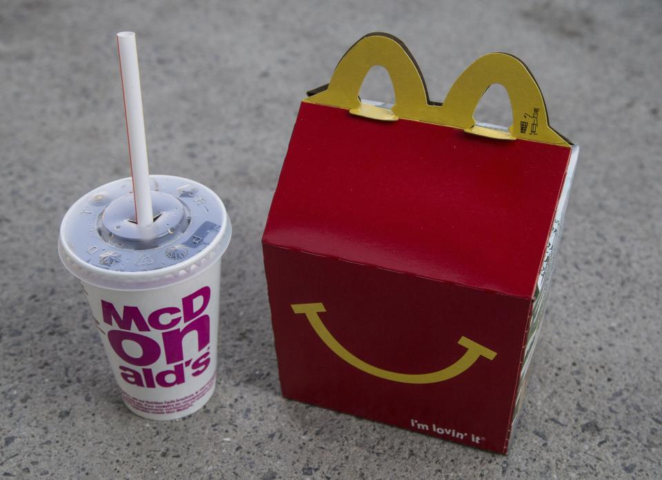 TORONTO, ON - FEBRUARY 14:  Currently, McDonald's top-selling children's meals can range from 300 to nearly 800 calories across North America        (Bernard Weil/Toronto Star via Getty Images)